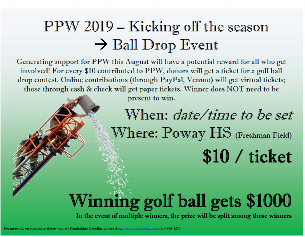 Support Poway Pop Warner | Poway Pop Warner Football & Cheer